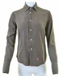 DIESEL-Womens-Corduroy-Shirt-Medium-Khaki-Cotton-ET03