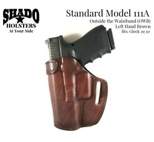 SHADO Leather Holster Model 111A Left Hand Brown fits Glock 29 30 Brand Products
