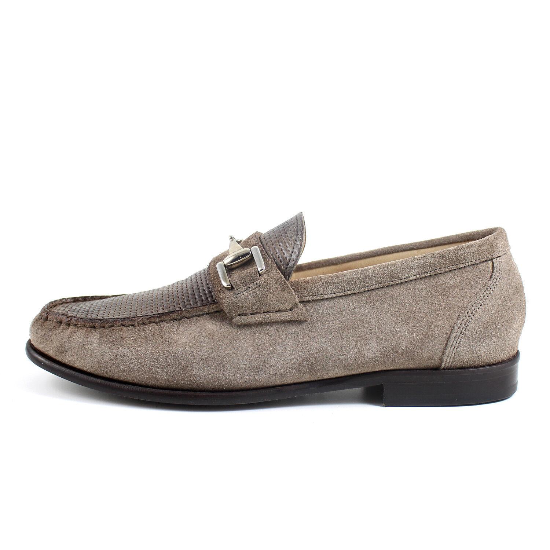 MOCASSINI men GRIGI eleganti fatti a mano in Italia GIORGIO REA shoes 7761GR