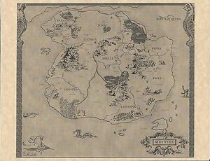 Legend of zelda world map flyerposter propreplica link nes image is loading legend of zelda world map gt flyer poster gumiabroncs Images