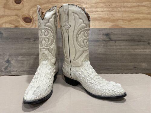 El presidente White Alligator Print cowboy boots S