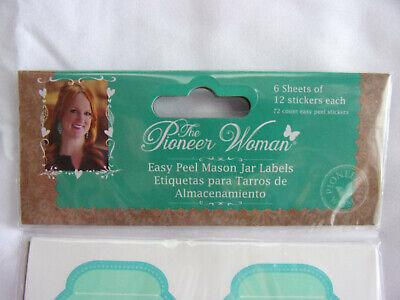 Pioneer Woman Easy Peel Mason Jar Labels The Pioneer Woman