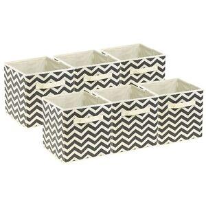 Sorbus-Foldable-Storage-Cube-Basket-Bin-6-Pack-Chevron-Pattern