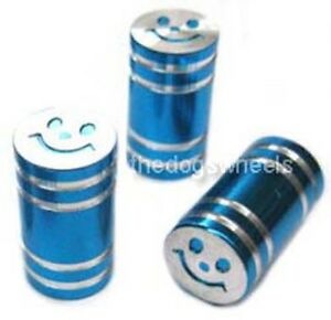Schrader-Alloy-Valve-Caps-Dust-Covers-Cycle-Bike-Bicycle-MTB-BMX-Car-Tyre-Blue