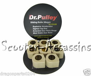 NEW DR PULLEY SLIDING ROLLERS 25x15 8 rollers a set 15G for Kymco AK 550