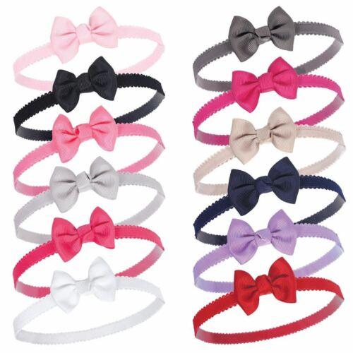 Hudson Baby Girl Petite Bow Headbands 12 Pack Black//Pink