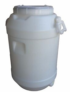 Image Is Loading 60 Litre Water Storage Container Plastic Fermenter Drum