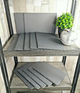 Set-Of-Natural-Slate-Rectangular-Placemats-Food-Serving-Platers-Place-Settings