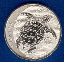2016 New Zealand $5 Niue Hawksbill Turtle 2 oz .999 Silver BU Round Bullion Coin