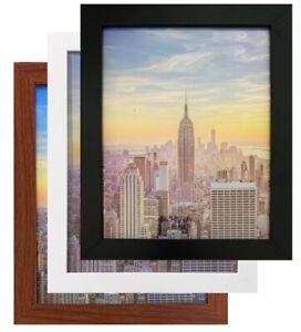 Frame Amo Black Wood Picture Frame or Poster Frame, 1 Inch Wide, Refurbished