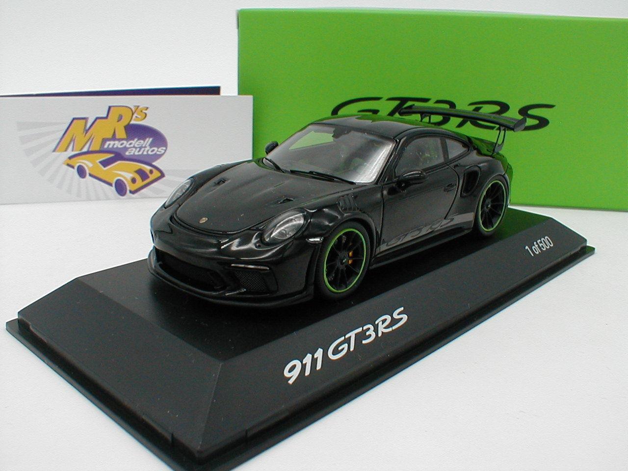 Spark Wax 02020083-Porsche 911 gt3 RS Weissach package 2018 negro 1 43 nuevo