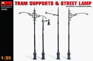 MIN35523-Miniart-1-3-5-Tram-Supporti-e-Strada-Lampade
