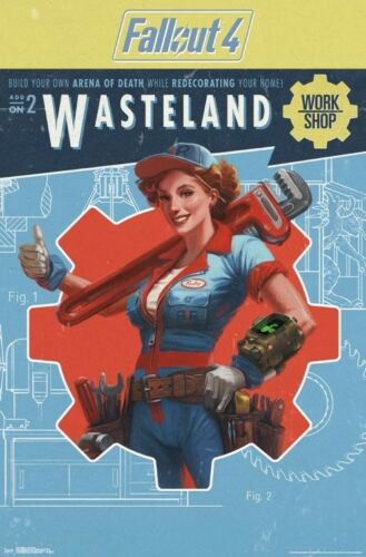 WASTELAND POSTER 22x34 FALLOUT 4 VIDEO GAME 16073