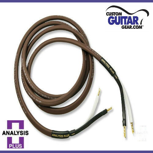 PAIR 12ft Length Analysis Plus Chocolate Oval 12//2 Speaker Cables