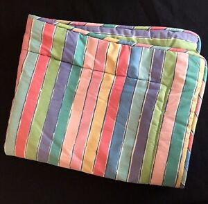 Vtg-Collier-Campbell-ONE-Standard-Pillow-Sham-TAMBOURINE-Multi-Color-Stripes