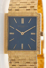 Vintage 1960s $20,000 Vacheron Constantin 18k Yellow Gold BLUE Mens Watch 67g