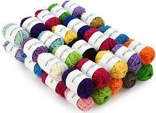 40 Acrylic Yarn Skeins Assorted Colors Huge Lot Mixed Acrylic Yarn Wool Balls