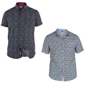 Duke-London-Mens-Plus-Size-Printed-Shirts-Casual-Short-Sleeve-King-Size-2XL-5XL