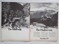 5/1969 PUB HUGHES 500 CIVIL HELICOPTER HUBSCHRAUBER JEEP ORIGINAL AD