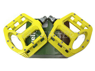 "New Wellgo MG-1 BMX Bicycle Bike Magnesium Pedals 9//16/"" Yellow"
