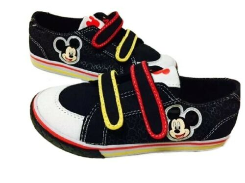 NWT Canvas Shoes Disney Mickey Mouse Black Red Yellow 11 12