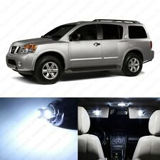14 x Xenon White LED Interior Light Package For 2005 - 2013 Nissan Armada