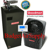 5 Ton 13 Seer 410a Goodman Complete A/c System Gsx13060+aruf60d14+tstat+heat++ on sale