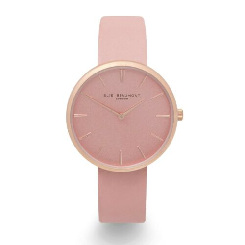 Elie Beaumont, Hampstead Pink Leather watch,