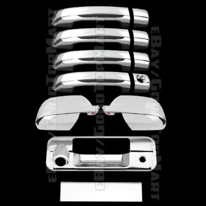 Chrome Covers For TOYOTA Tundra Double Cab 2007-2017 Half Mirrors Gas 4 Doors