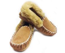 100% Sheepskin Moccasins Slippers Winter Casual Genuine Slip On UGG Non-Slip