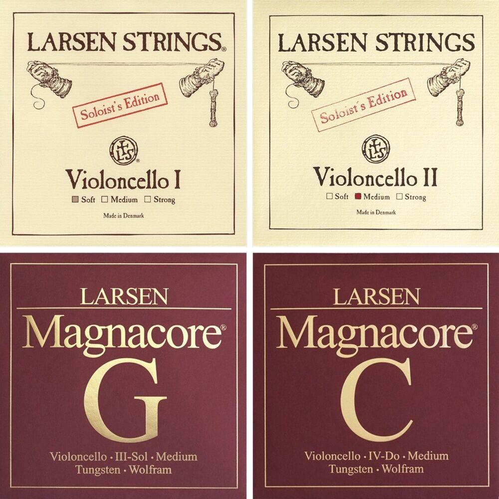 LARSEN Soloist s A, D und Magnacore G, C Cellosaiten SATZ Kombination
