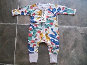 a809a66cb BNWT Baby Boy s Bonds Tigers   Snakes Zip Wondersuit Coverall ...