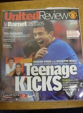 26/01/2005 Manchester United v Barnet [Football League Cup] .  We are pleased to