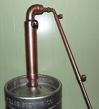 """3"""" inch Copper Pot Belly Moonshine Still Keg Column beer water distill reflux"""