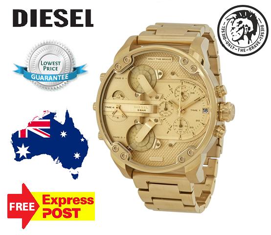 Diesel Mens Watch Mr.Daddy 2.0 All Gold Tone DZ7399 NEW