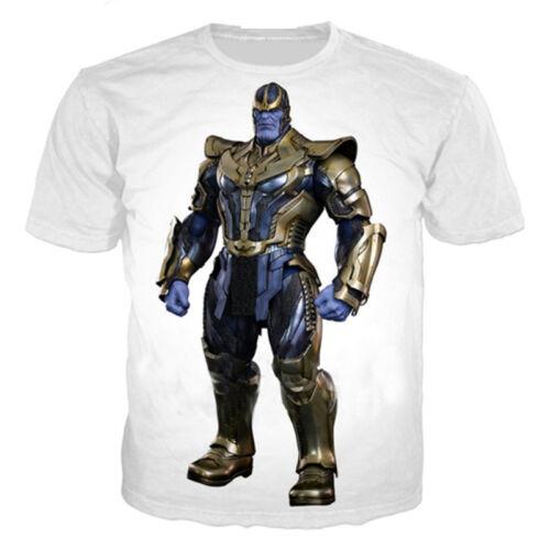New Popular Comic Thanos Print 3D T-Shirt Women Men Casual Short Sleeve Tops Tee