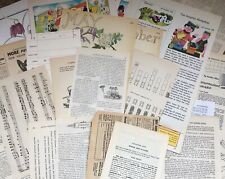 Vintage Book Pages. Mixed lot. Paper Ephemera. College. Mixed Media. Journalling