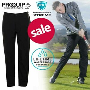 ProQuip-PX6-Pro-Men-039-s-Waterproof-Golf-Trousers-Black-NEW-REDUCED
