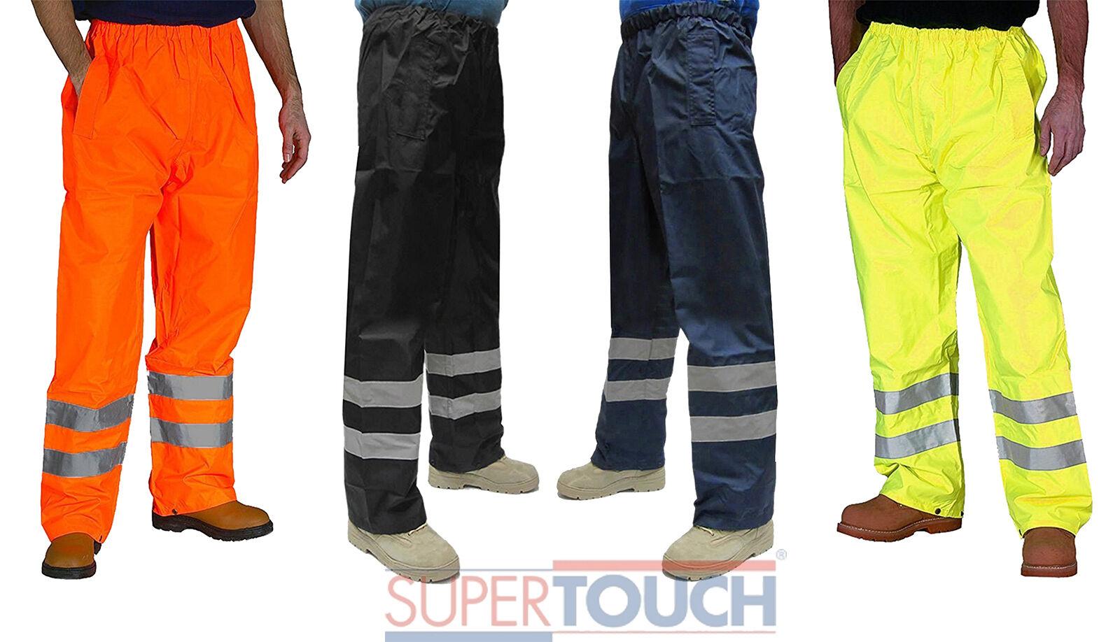 Alta Visibilidad Vis Ropa De Impermeable Trabajo Seguridad Pantalones Externos Impermeable De 554ac6