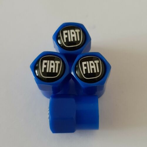 FIAT Nero Blu in Plastica Ruota della valvola Polvere Tappi tutti i modelli 7 COLORI TIPO PUNTO