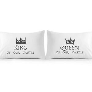 HOME-DYNAMIX-SLEEPOSOPHY-COLLECTION-KING-amp-QUEEN-OF-OUR-CASTLE-PILLOWCASES