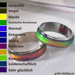 Stimmungsring Farbwechsel Ring Multicolor Kinder Damen Schmuck Moodring Geschenk