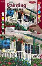 FLOWER SHOP FLORIST ART GALLERY PAINTING LARGE ACRYLIC A3 PAINT BY NUMBERS PAL3