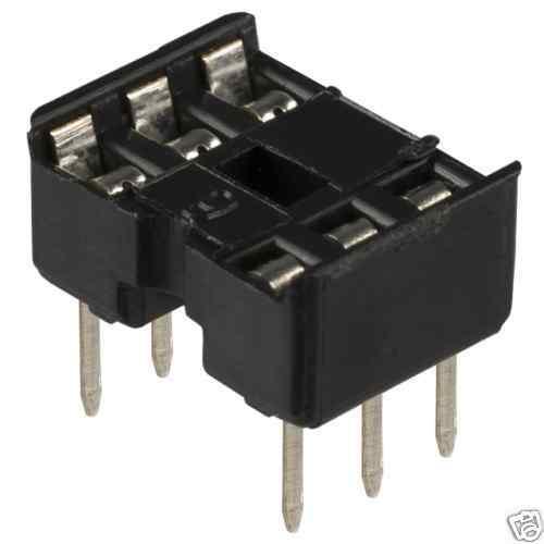 """6 pin 0.3/"""" DIL DIP IC socket connector 6pin skt 12"""