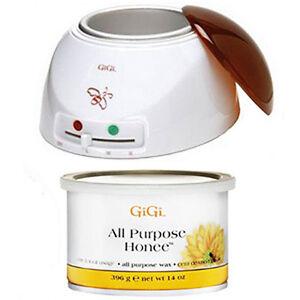 GiGi Wax Warmer 0225 + GiGi 14oz All Purpose Honee Wax Can 0330 Hair Removal Kit