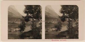 Italia Cortina D'Ampezzo c1905 Foto Stereo Vintage Analogica