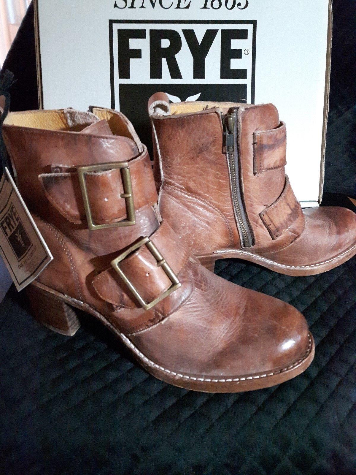 FRYE - SABRINA Double Buckle Boot - Women's Size 10B