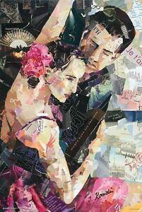 INES-KOUIDIS-PARISIENNE-TANGO-91-x-61-cm-36-034-x-24-034-REPRODUCTION-ART-POSTER