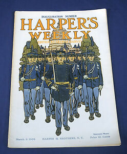 1909-March-6-Harper-039-s-Weekly-Magazine-Inauguration-Pres-W-Taft-Theo-Roosevelt