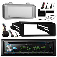 Harley Flhx 98-13 Radio Install Adapter Kit, Antenna, Bluetooth Cd Radio, Cover on sale